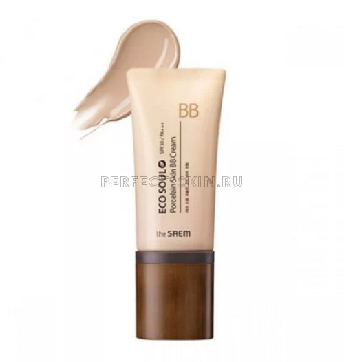 The Saem Eco Soul Porcelain Skin Bb Cream 01 Light Beige  SPF30/РА++ 45ml