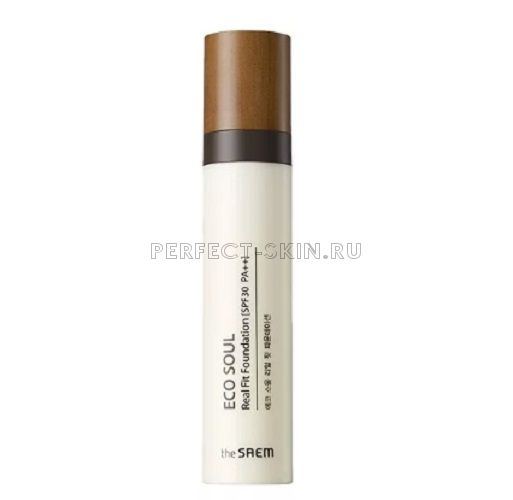 The Saem Eco Soul Real Fit Foundation 23 Rich Beige (N2) 40ml