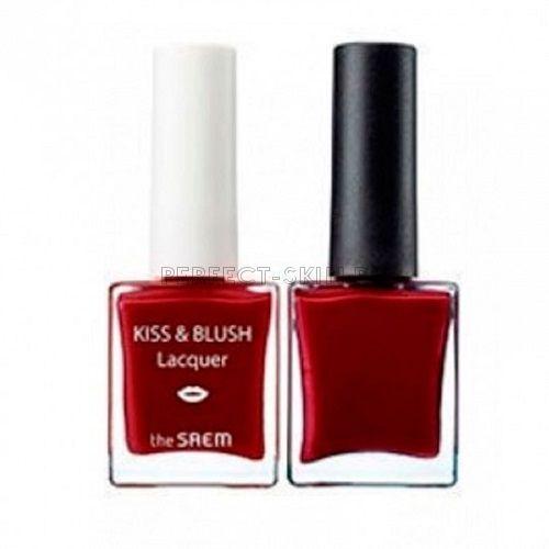 The Saem Lip Nail + Kissblush Lacquer Kissholic Nails Rd02 9,5+9,5g