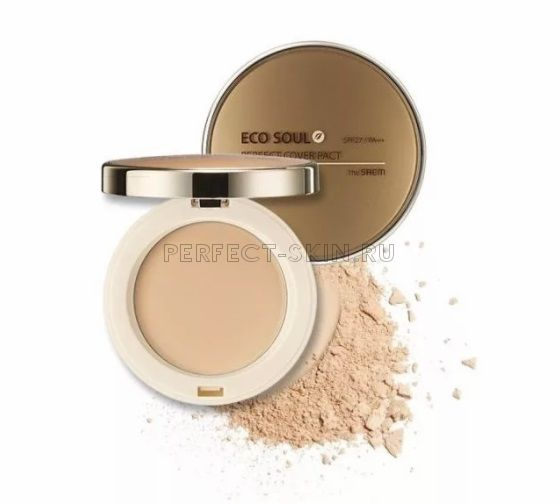 The Saem Eco Soul Perfect Cover Pact 21 Light Beige SPF27 11g