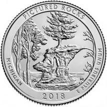 25 центов США 2018, 41-й парк Живописные скалы, Pictured Rocks