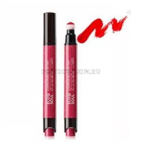 The Saem Lip Eco Soul Cushion Button Tint Rd01 Wishful Red 4,1g
