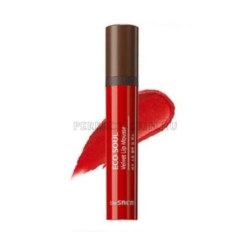 The Saem Lip Eco Soul Velvet Lip Mousse Rd02 Lady Bird 5,5g