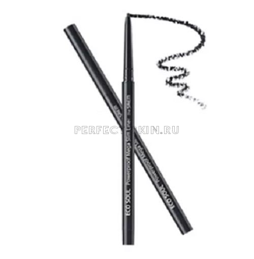 The Saem Eye Eco Soul Powerproof Mega Slim Liner 01 Deep Black 0,07g