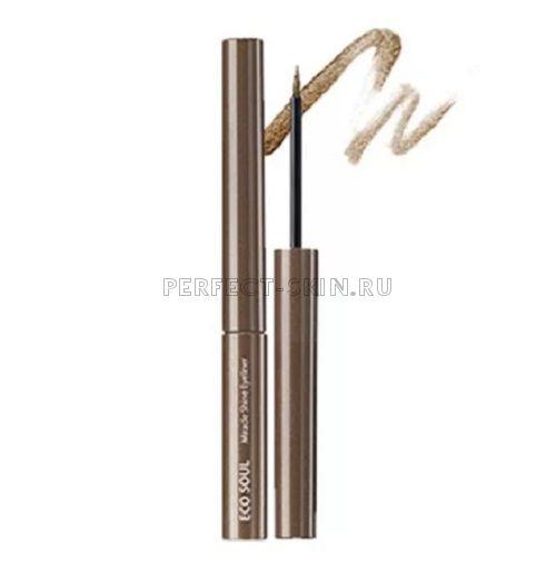 The Saem Eye Eco Soul Miracle Shine Eyeliner Br02 Light Brown 2,7ml