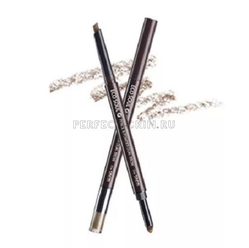The Saem Eye - Eco Soul Pencil Powder Dual Brow 01. Natural Brow 0,5*0,3g