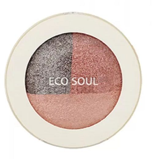The Saem Eye Eco Soul Triple Dome Shadow Cr01 Unforgettable Coral 6,5g