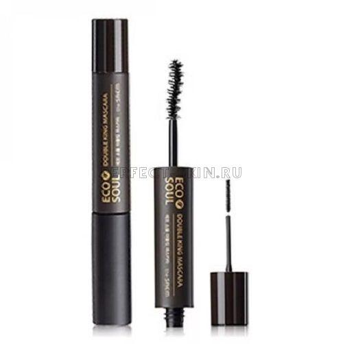 The Saem Eye Eco Soul Double King Mascara 01 Black 6+2,5ml