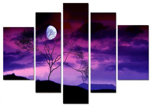 Модульная картина Лунная ночь
