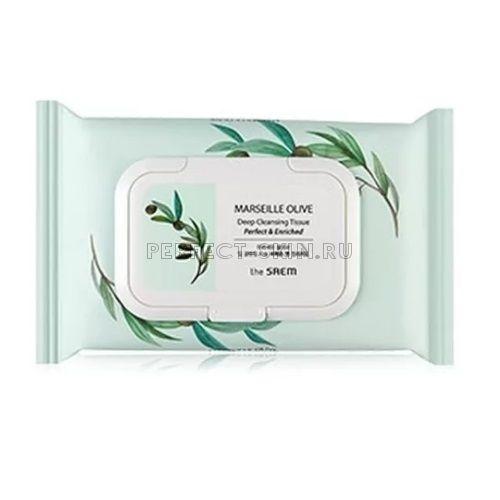 The Saem Olive Marseille Olive Deep Cleansing Tissue 4ea/274g