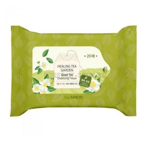 The Saem Healing Garden Green Tea Cleansing Tissue 20еа