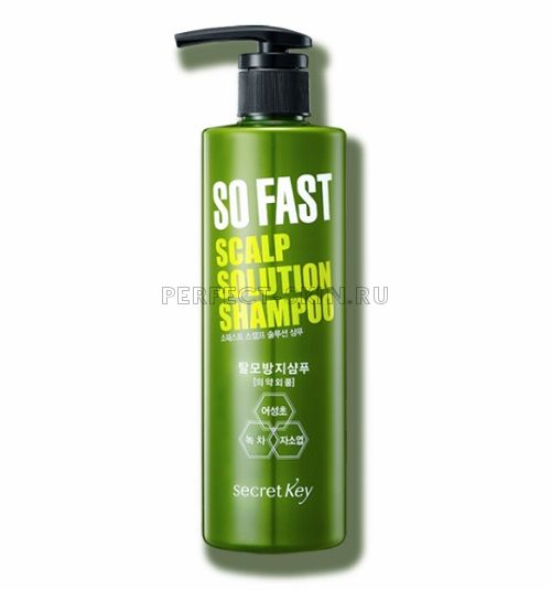Secret Key So Fast Scalp Solution Shampoo 500ml