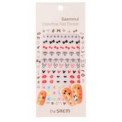 The Saem Saemmul Waterfree Nail Sticker 01 Lovely Ribbon