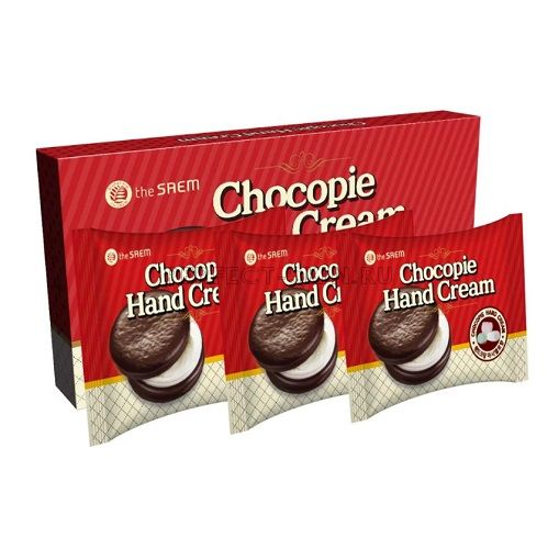 The Saem C Chocopie Hand Cream Cookies Cream Set 3ea*35ml