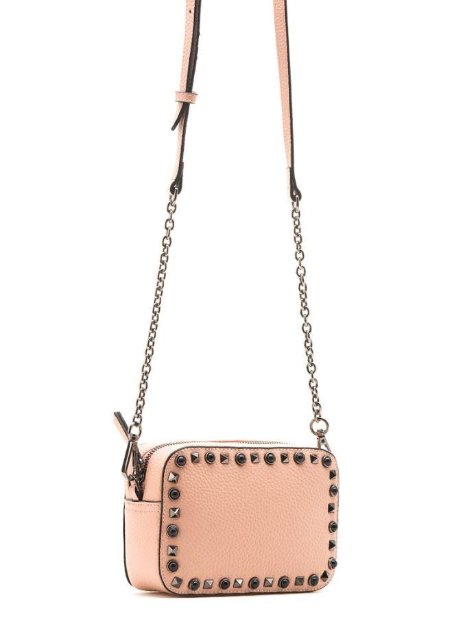 Розовая сумочка через плечо
