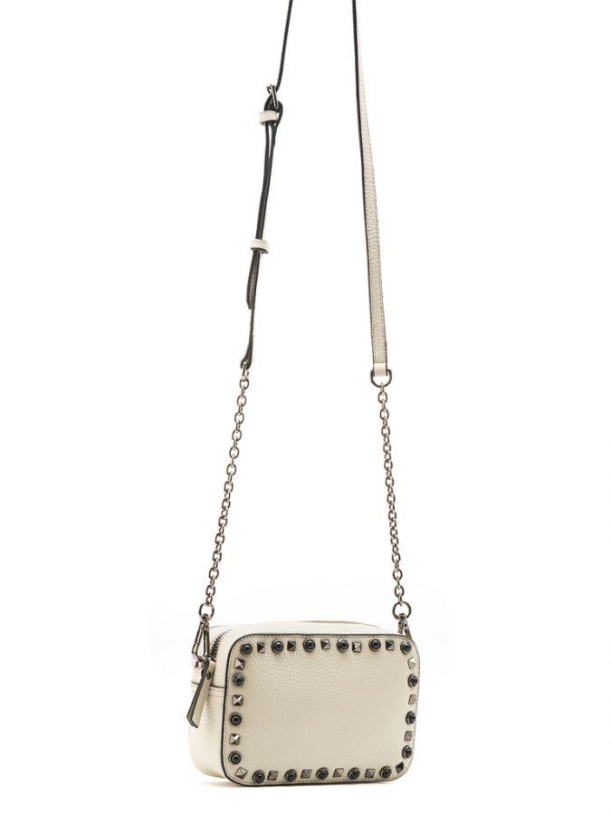 Светло-серая сумочка через плечо