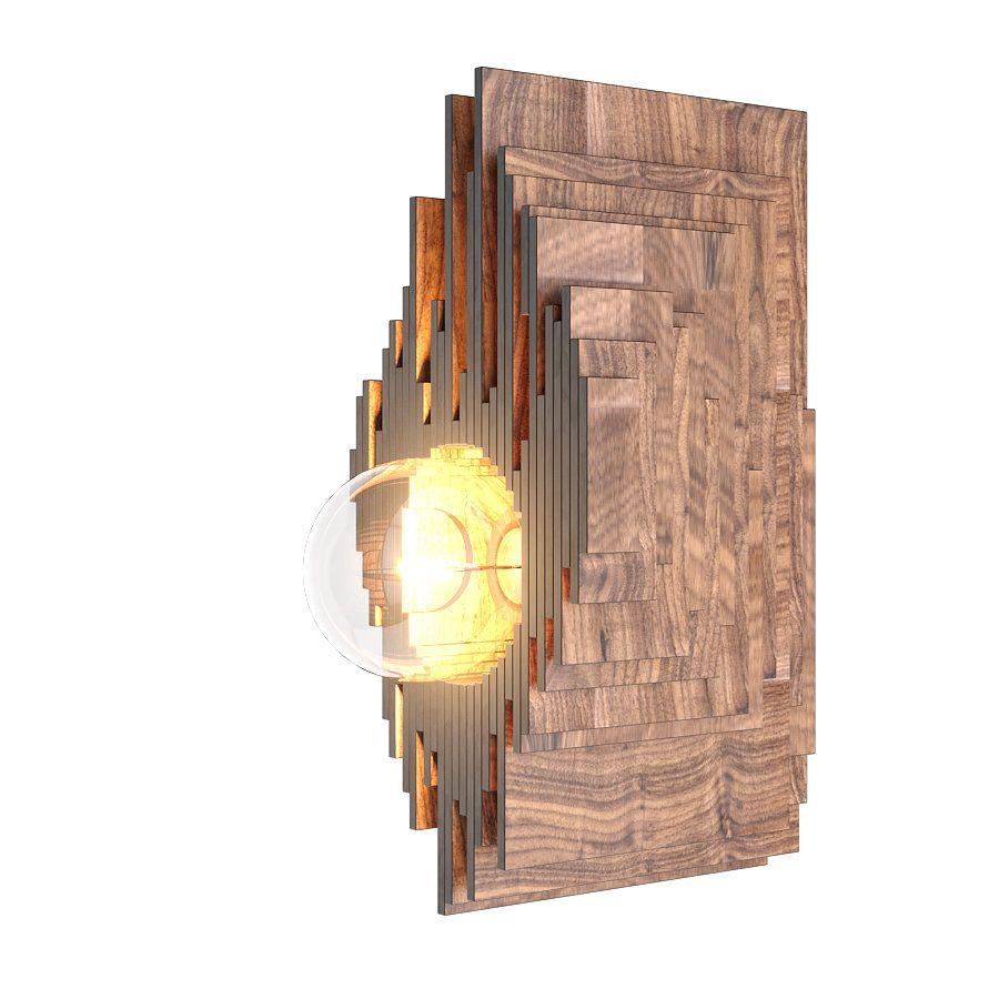 Светильник настенный Авокадо-Фурье (орех)