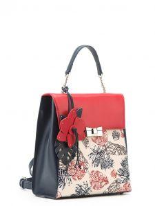 Разноцветный кожаный рюкзак Eleganzza