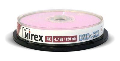 DVD+RW Mirex 4,7 Гб 4X Cake box 10