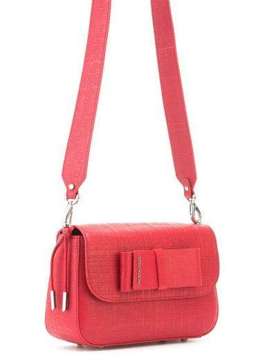 Красная итальянская сумка через плечо