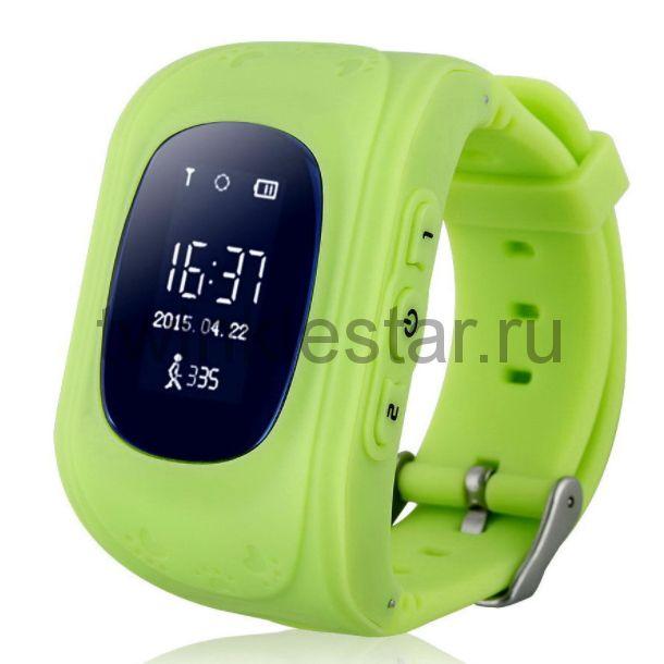 Умные детские часы с GPS Smart Baby Watch Q50 зеленый