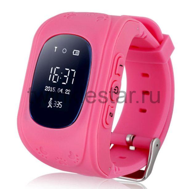 Умные детские часы с GPS Smart Baby Watch Q50 розовый