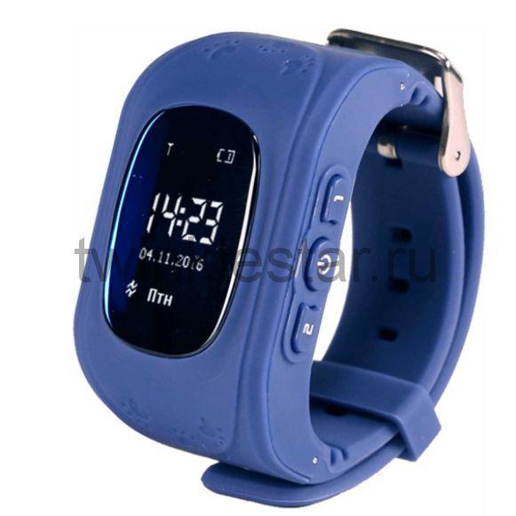 Умные детские часы с GPS Smart Baby Watch Q50 синий
