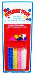 Свечи на торт разноцветные (24 шт.)
