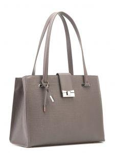 Серо-коричневая кожаная сумка