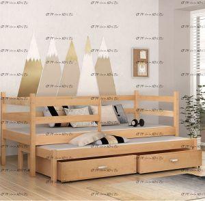 Кровать Кадет+ Массив, любые размеры