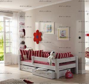 Кровать Злата массив №Ф с ящиками (любые размеры)