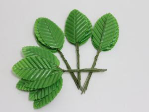 Листик. 10 см. Цвет   зеленое яблоко (1 упаковка = 10*10 шт)