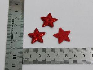 """Патч """"Звезда"""", 20*20 мм, цвет красный (1уп = 25шт)"""
