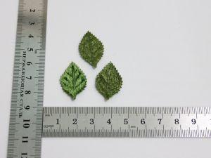 """Патч """"Лист"""", 30*17 мм, цвет зеленый (1уп = 25шт)"""