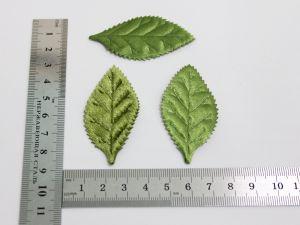 """Патч """"Лист"""", 55*30 мм, цвет зеленый (1уп = 25шт)"""