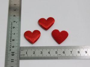 """`Патч """"Сердце"""", 25*22 мм, цвет красный"""