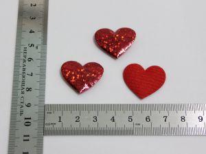 """`Патч """"Сердце"""", 25*23 мм, цвет красный"""