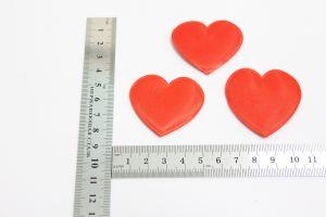 """`Патч """"Сердце"""", 46*43 мм, цвет красный"""