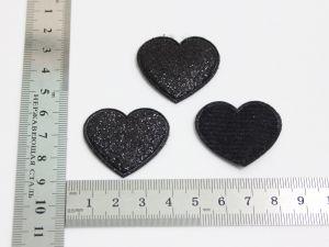 """`Патч """"Сердце"""", 35*32 мм, цвет черный"""