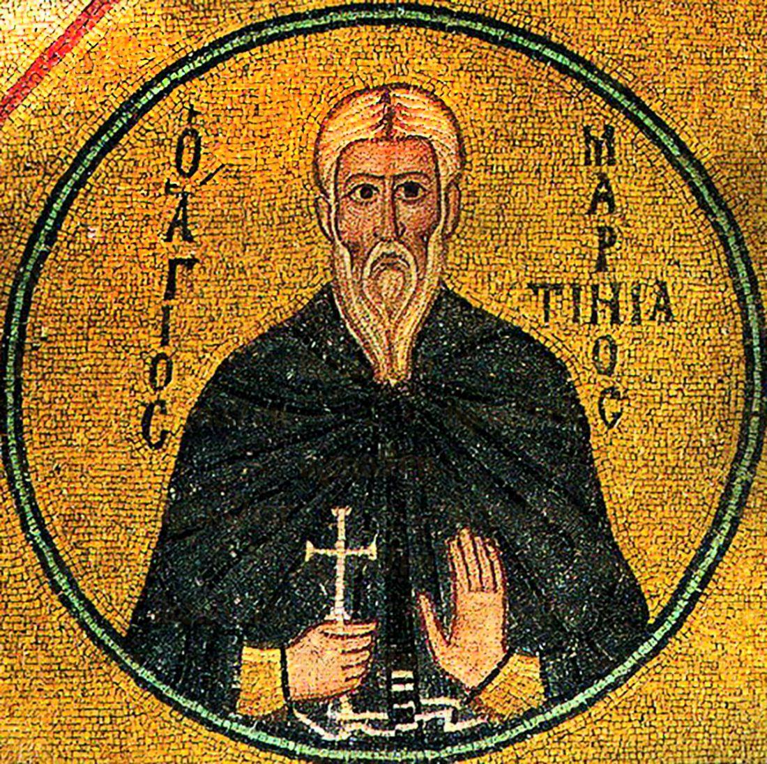 Мартиниан Кесарийский (Палестинский) (рукописная икона)