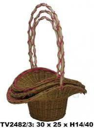 Корзинка- шляпа  ротанговая  3 в 1     30*25 Н14/40