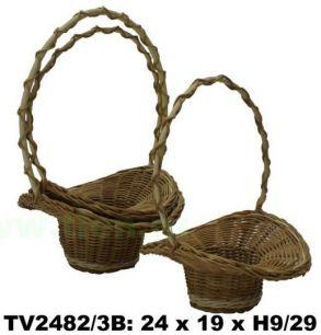 Корзинка- шляпа  ротанговая  3 в 1     24*19 Н9/29