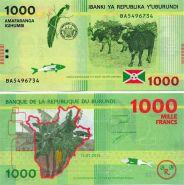Бурунди 1000 Франков 2015 год. ПРЕСС. ПОЛИМЕР