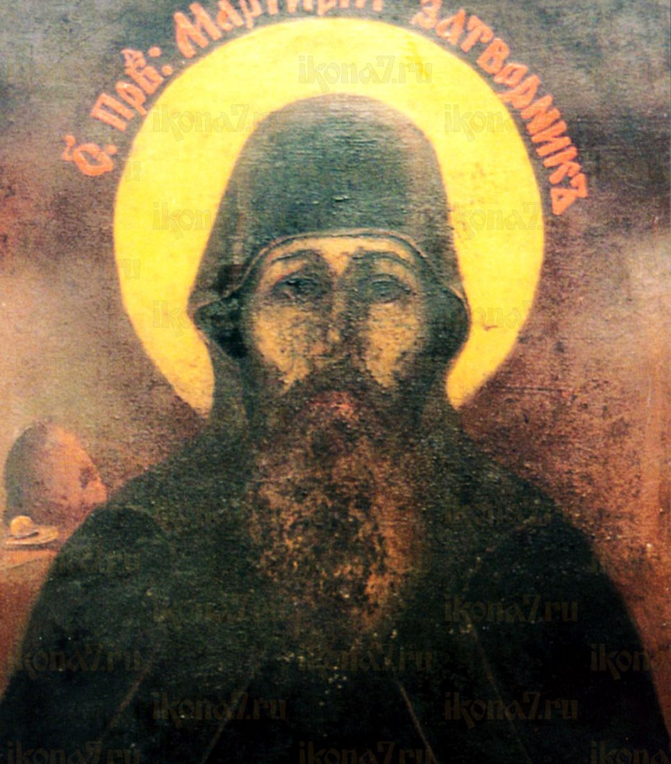 Мартирий Печерский (рукописная икона)