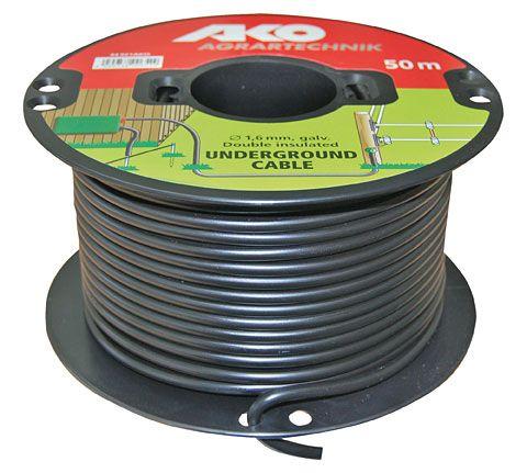 Провод для электроизгороди высоковольтный Ø1,6 мм/50 м Dairy