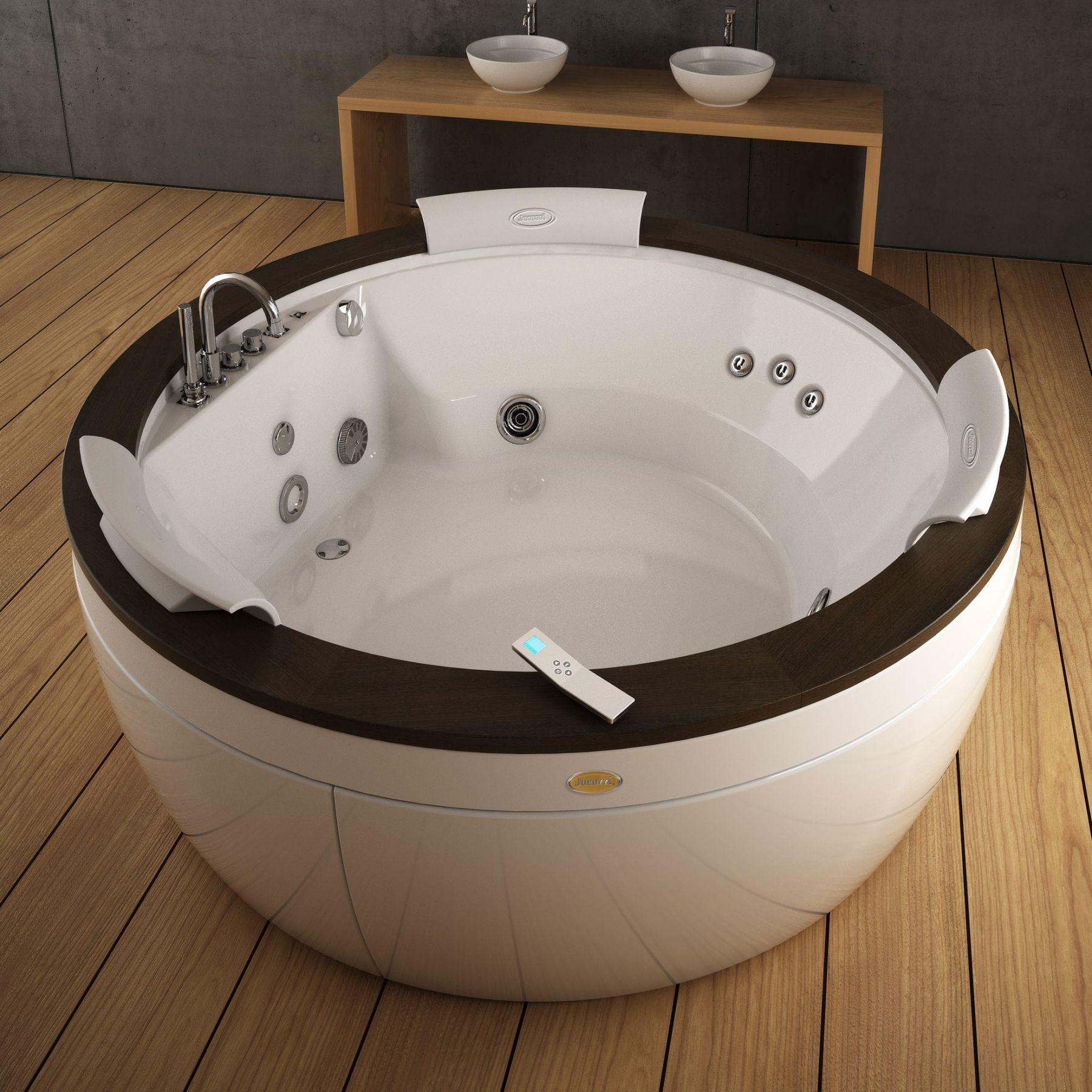 Ванна с подсветкой Jacuzzi Nova Wood 180x180 ФОТО