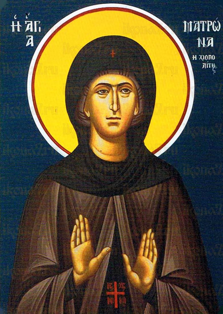 Матрона Хиосская (рукописная икона)