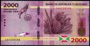 Бурунди 2000 франков 2015 г пресс UNC