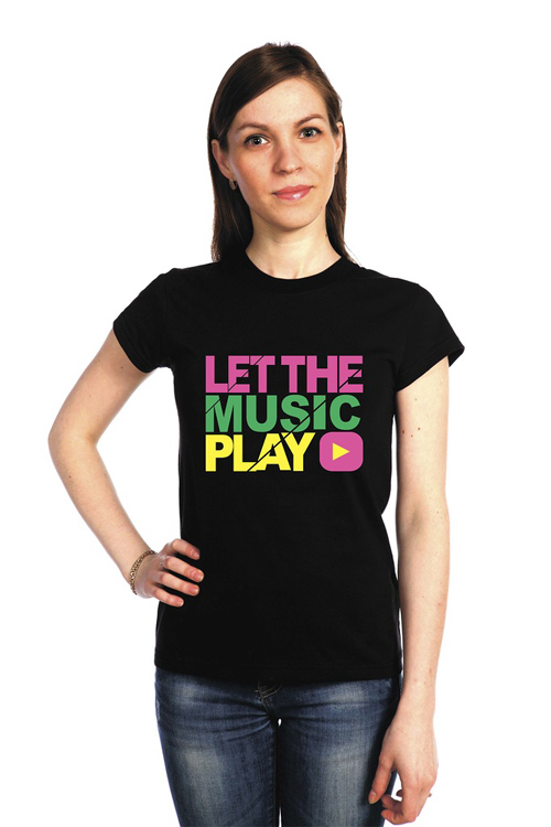 "Футболка ""Let the music play"""