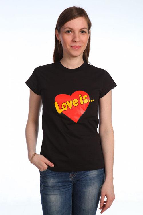 "Футболка ""Love is"" черная"